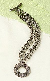 Chain Jewelry How-To: Faux Chain Maille Secret Bracelet by Jane Dickerson - Jewelry Making Daily - Jewelry Making Daily