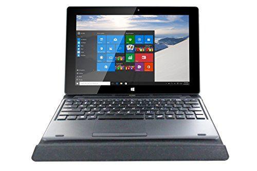 nice Vortex V10 10.1-Inch Black Tablet with Keyboard and Cover (Intel Baytrail Z3735F Quad 1.83 GHz, 2 GB RAM, 32 GB Memory, Windows 10)