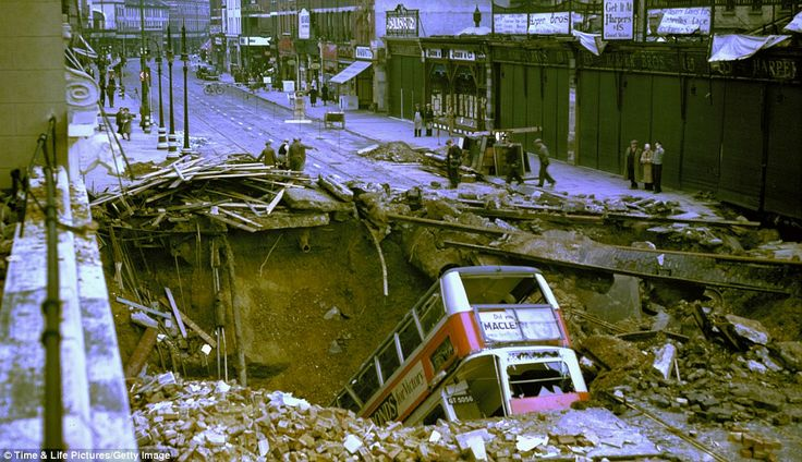On the night of October 14 1940, a bomb penetrated the road and exploded in Balham Underground station, killing 68 people. A No 88 bus travelling in black-out conditions then fell into the crater.