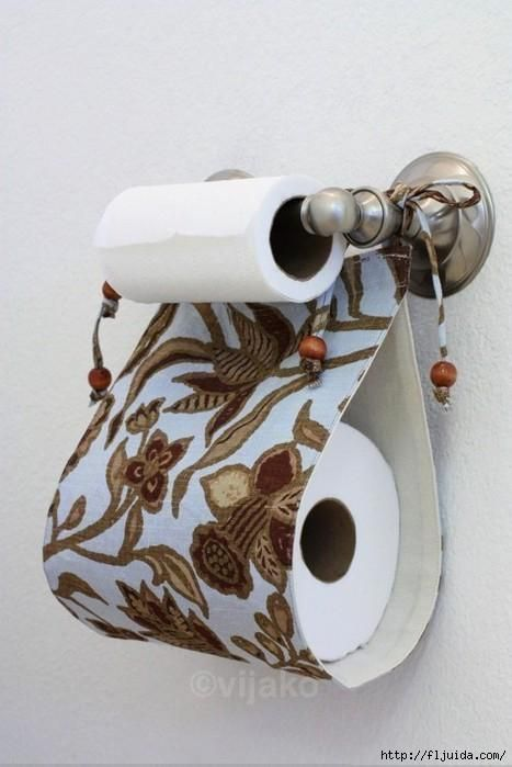DIY Fabric Spare Toilet Paper Holder