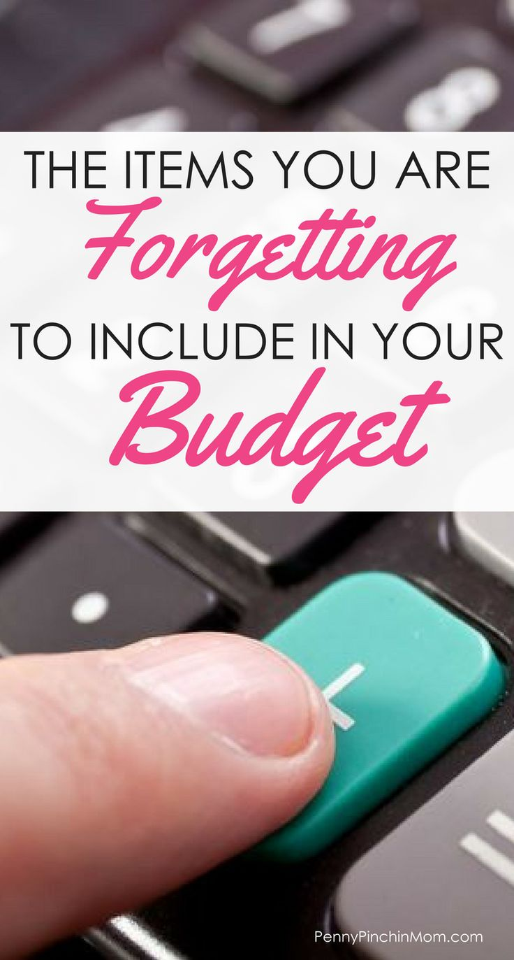 The Ten Items You Are Forgetting In Your Budget