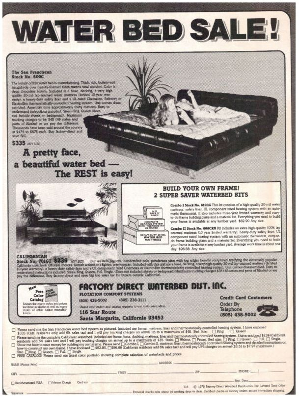 166 best waterbeds images on pinterest waterbed 3 4 for Waterbeds and stuff