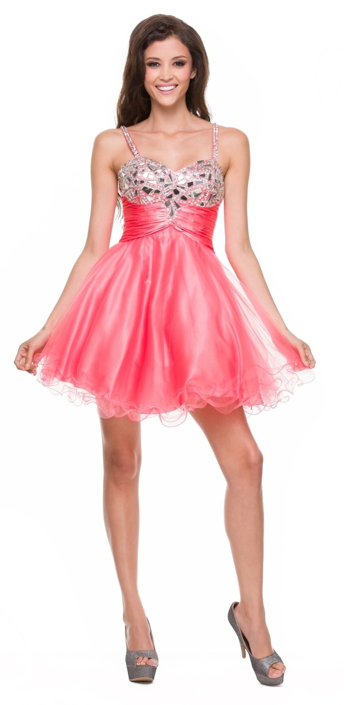 Mejores 107 imágenes de Coral Dresses en Pinterest | Vestido de ...