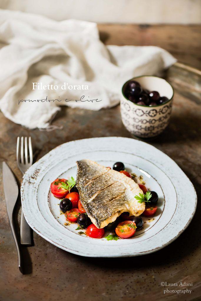 filetto d'orata con pomodorini e olive