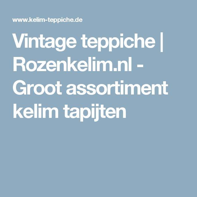 Vintage teppiche  | Rozenkelim.nl - Groot assortiment kelim tapijten