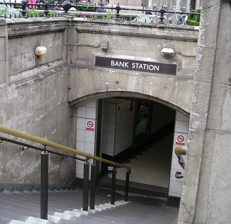 entrance to Bank Station, City of London (End LW13)