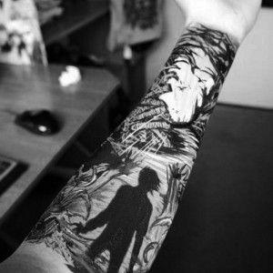 black white sleeve tattoo ink pinterest tattoo piercings and tatting. Black Bedroom Furniture Sets. Home Design Ideas