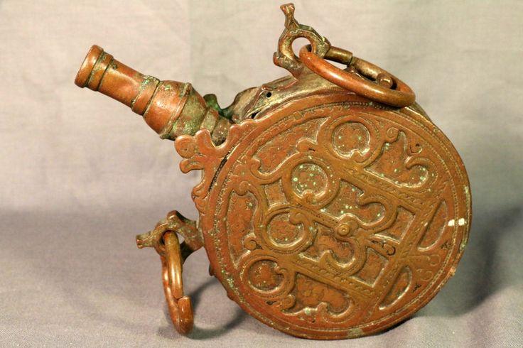 Antique Circa 1800 Islamic Moroccan Engraved Enameled