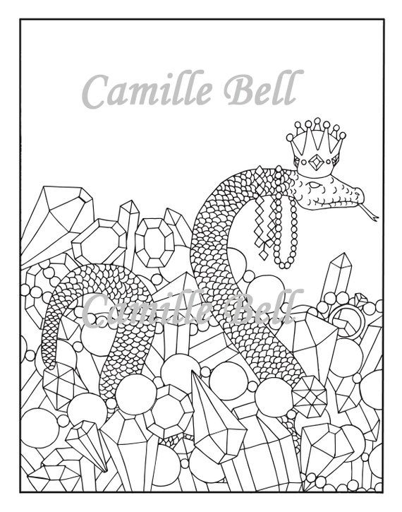 King Snake Coloring Page Adult Coloring Page Download Cute