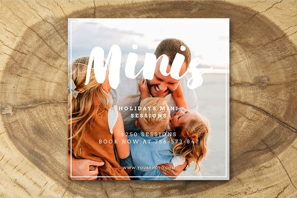 Holiday Mini Instagram Templates 005 by Salsal Design on @creativemarket