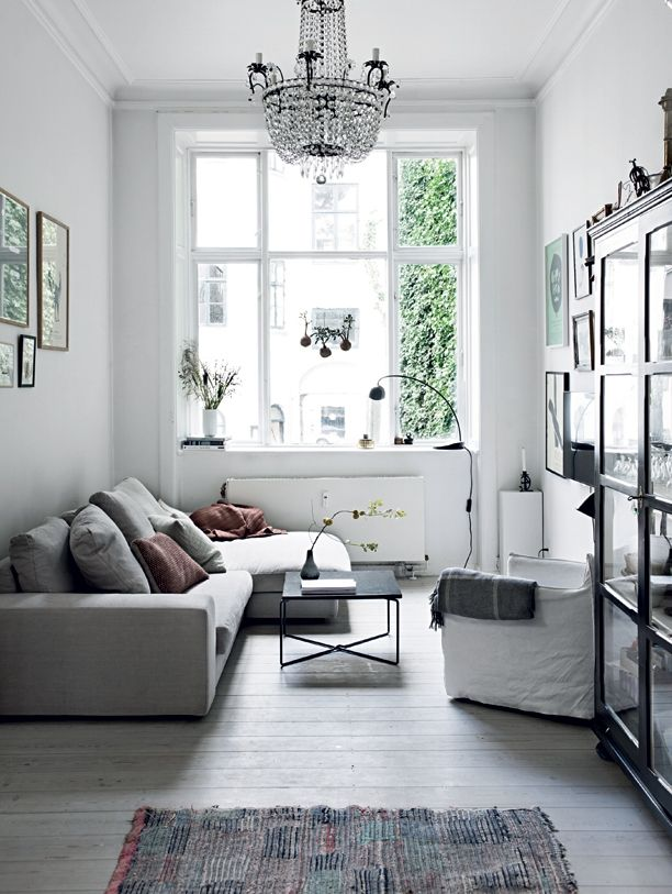 Small light living room in the Copenhagen home of Aiayu co-founder Marie Worsaae