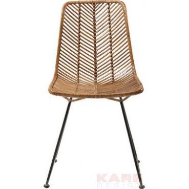 La chaise en #rotin Ko Lanta vous séduira par l'originalité de sa forme et par sa qualité ! Chaise Ko Lanta Kare #Design