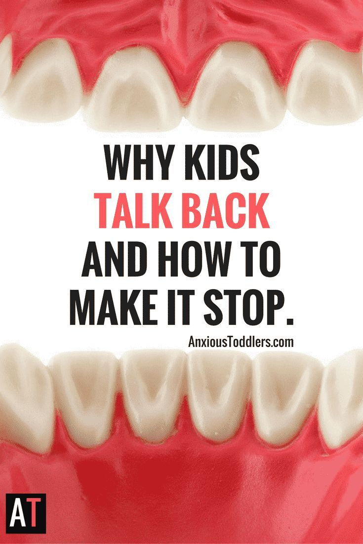 Does your child talk back? When kids talk back it can make you feel ineffective and enraged. Learn why they do this and how to get it to stop!