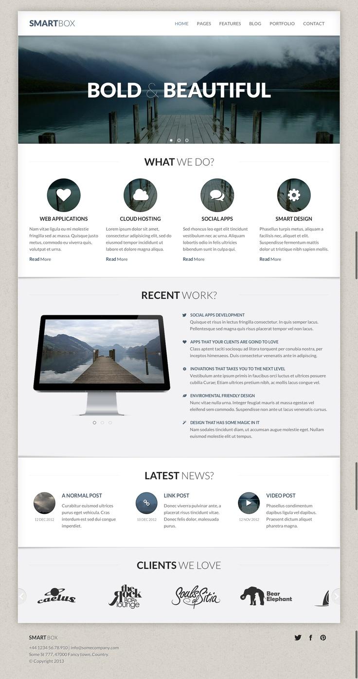 SmartBox - Responsive Wordpress Bootstrap Theme  #wordpress #theme #website #template #responsive #design #webdesign #framework #bootstrap #slider