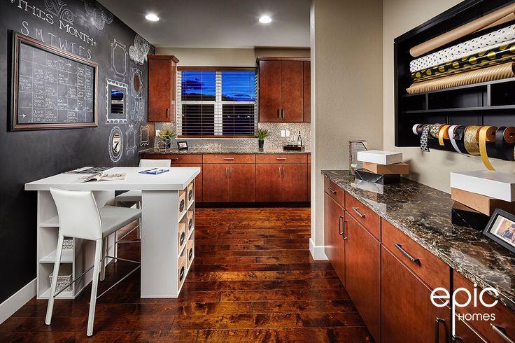 Summit Model Craft Room - 3498 Sq ft Model - Epic Homes, Leyden Rock, Arvada Colorado