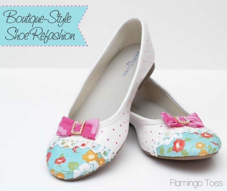 From plain to pretty.  DIY shoe re-vamp/re-fashion project using Mod Podge.