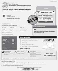 Official Arkansas Vehicle Registration Renewal