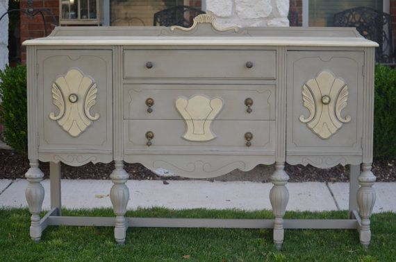 Antique 1930 S Buffet Sideboard Console By Shabbymebella