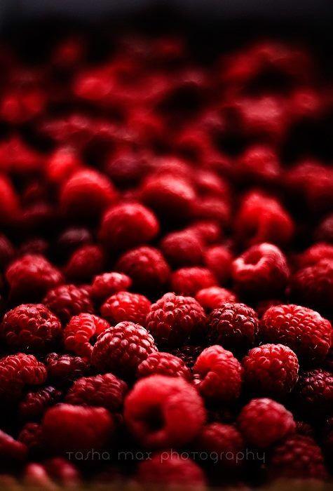 Autumn harvest of raspberries..