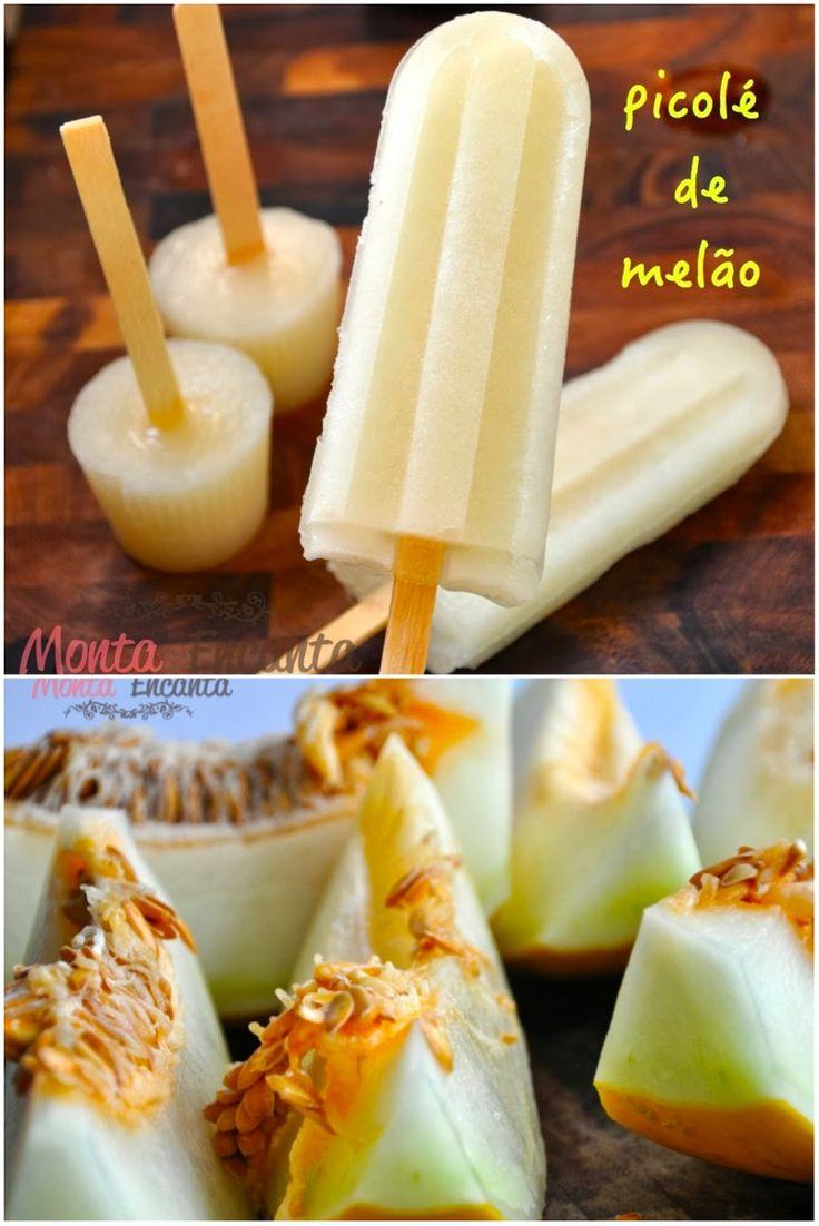 picolé de melão, melão no palito, melão geladinho, sorvete de melão,