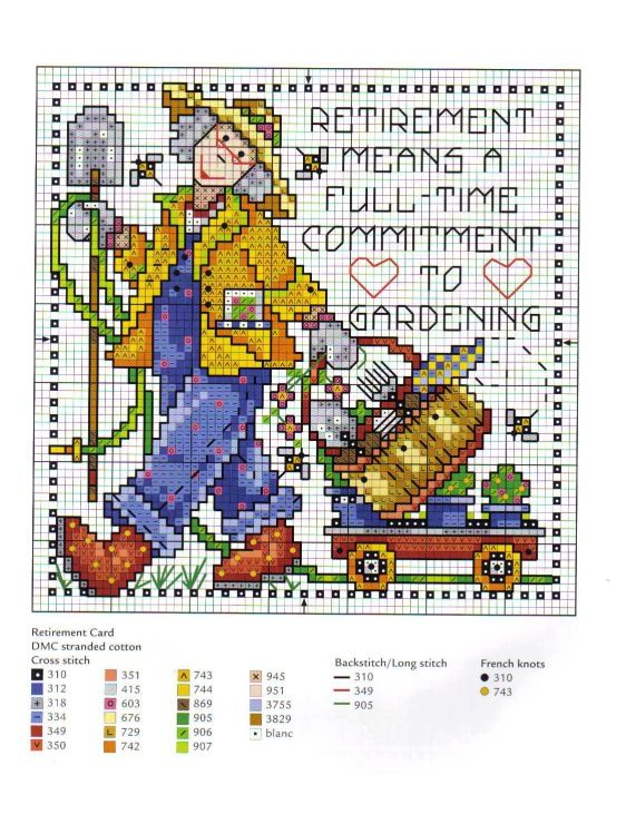 Cross-stitch Retirement Means a Full-Time Commitment to Gardening... Gallery.ru / Фото #9 - 24 - 633-10-66