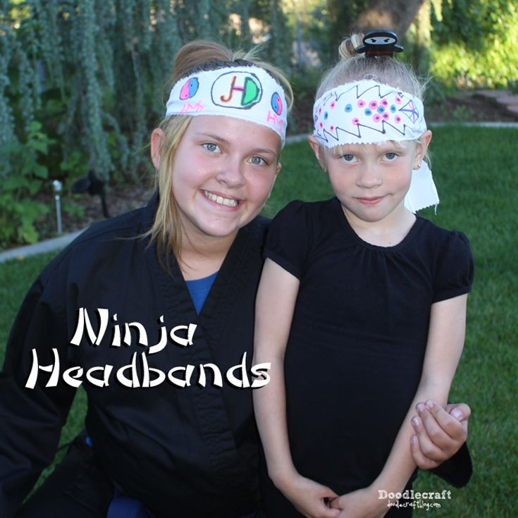 Doodlecraft: Ninja Headbands!