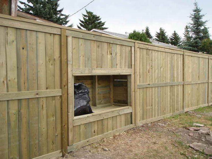 Privacy fence wooden privacy fence ideas with storage for Wood privacy fence ideas