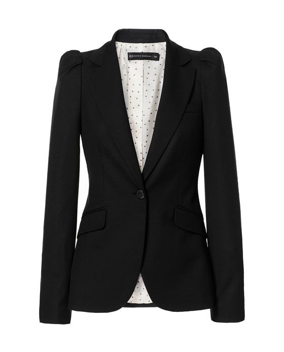 Image 6 of BLAZER WITH GATHERED SHOULDERS from Zara