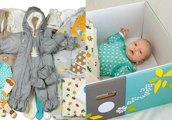 Expectant parents worldwide consider moving to Finland after the BBC's report, Why Finnish Babies Sleep in Cardboard Boxes. A box that doubles as a bassinet, comes packed with bodysuits, sleeping bag, outdoor gear, bathing products, diapers, bedding AND 105 days of paid maternity leave, 158 days of parental leave shared between parents, and shorter shifts until the child is two, paid child-care leave and free daycare. Finns pay high taxes Finland is the 9th happiest country in the world.
