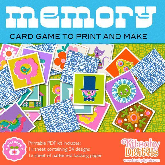 Memory Card Game Printable
