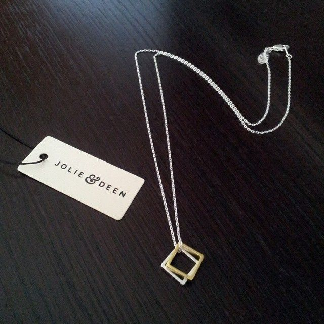 Jolie & Deen Two tone square necklace $35