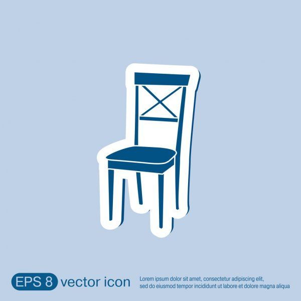 Chair Icon Symbol Furniture Stock Vector Sponsored Symbol Icon Chair Vector Ad In 2020 Symbols Icon Stock Illustration