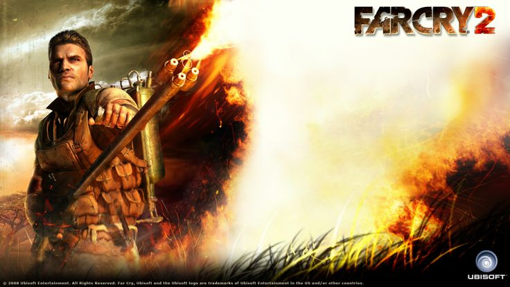 Download Far Cry Flamethrower Fire Grass Jack Carver Wallpaper « Kuff Games