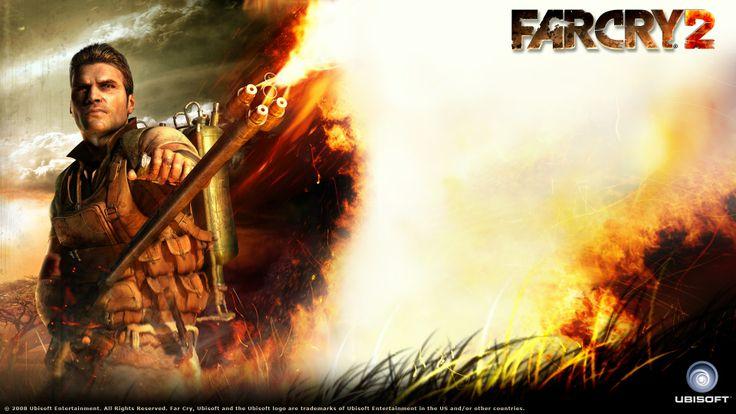 Download Far Cry Flamethrower Fire Grass Jack Carver Wallpaper « Kuff Games