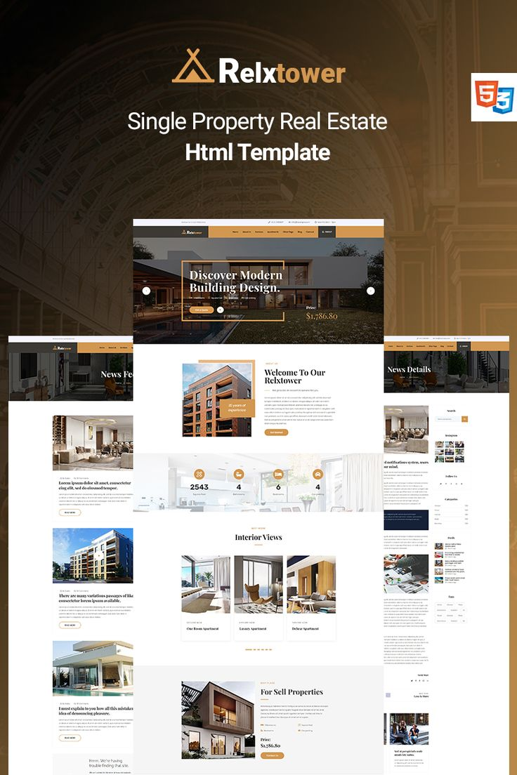 Relxtower Single Property Real Estate Website Template In 2020 Real Estate Website Templates Real Estate Website Property Real Estate