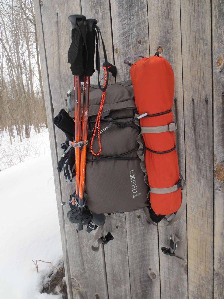 Snow Shoe break - Exped Mountain Pro 20, Multimat