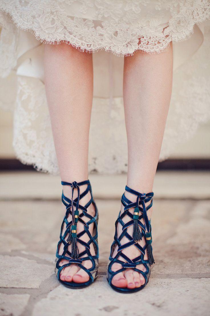 unique blue shoes /  The Nichols
