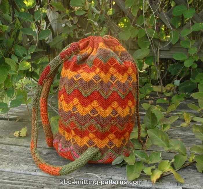 ABC Knitting Patterns - Chevron Backpack