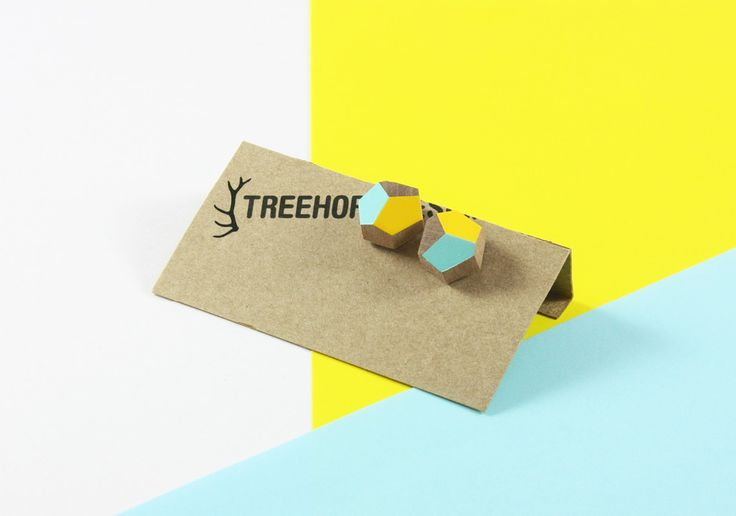 Our faceted studs, comes in lots of colours! Product shot by, Sophia Duhrin - available at www.treehorndesign.com