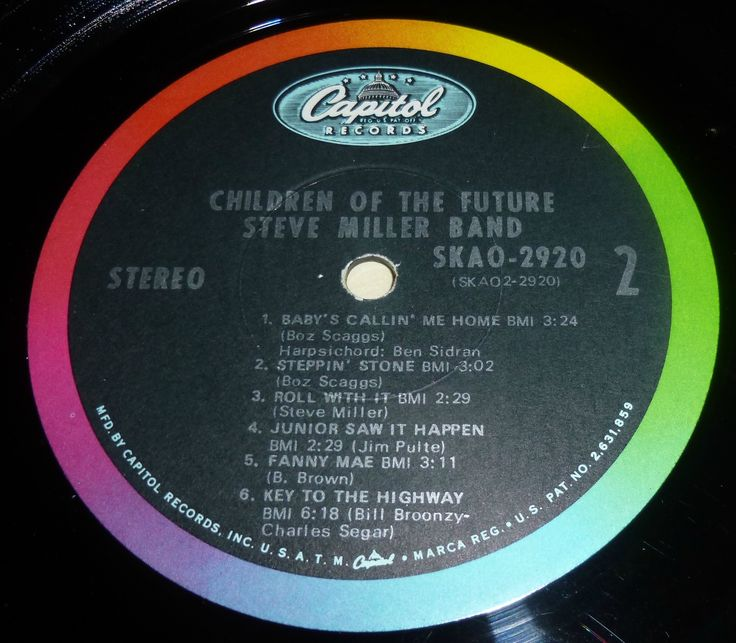 Steve miller Band - Children of the future label capitol