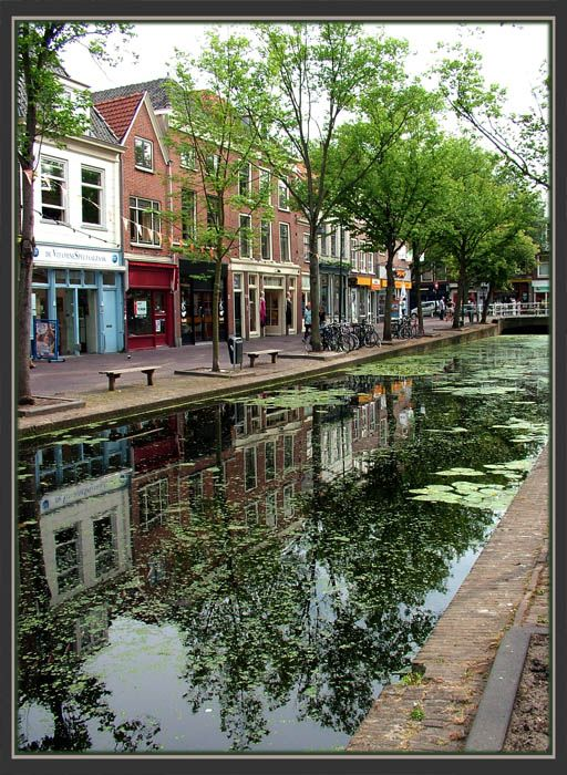 Delft, Zuid Holland, Netherlands. Bought a SMALL piece of authentic Delft pottery