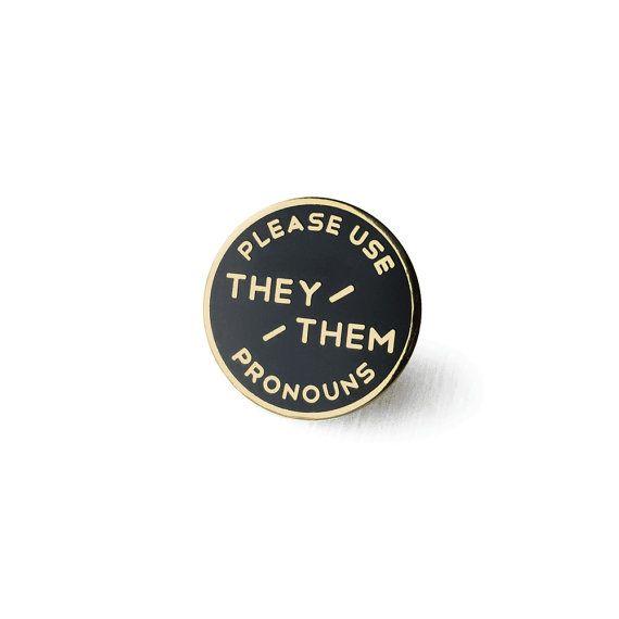 They / Them Enamel Pronoun Pin PIN PRE-ORDER