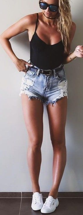 #fall #trending #outfits | Bodysuits Denim Shorts Clothing, Shoes & Jewelry : Women : Clothing : jeans http://amzn.to/2kg5zfy