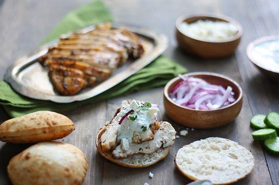 healthy greek chicken pita