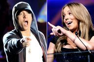 "EMINEM VS. MARIAH CA - http://downloadfreesongs.net/blog/eminem-vs-mariah-ca/ -  EMINEM VS. MARIAH CAREY: The feud between rapper Eminem and Mariah Carey is a story of he-say, she-say. After Eminem name-dropped Carey in ""Superman,"" making claims that the two had a romantic history, Carey publicly responded by denying the claims on Larry King Live and made a few..."