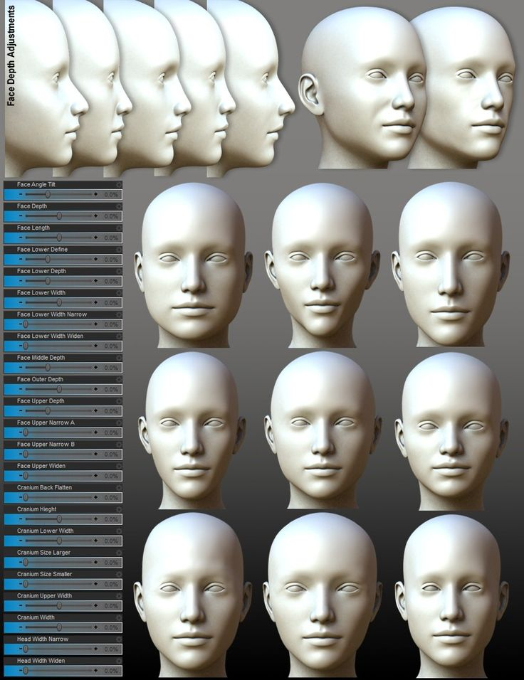 200 Plus - Head & Face Morphs for Genesis 3 Female(s) | 3D Models and 3D Software by Daz 3D