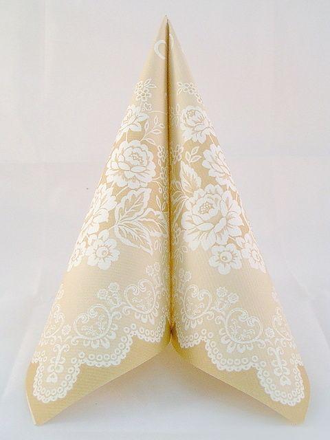 Servítka z netkanej textílie Franziska béžová   Svadobné dekorácie, svadobná výzdoba a doplnky - Organza, satén, tyl