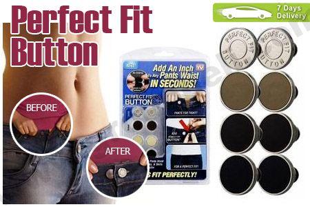 Ukuran pinggang celana atau rok dapat dirubah secara Instant dengan Perfect Fit Button hanya Rp 29.900 http://groupbeli.com/view.php?id=337