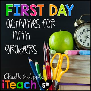 Back to School Activities Perfect for Fifth Graders! (iTeach Fifth: 5th Grade…