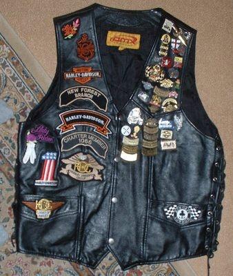 Biker Jacket Badges Pins Patches Biker Weddings